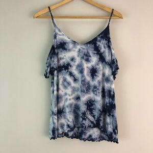 American Eagle soft sexy tie dye cold shoulder M